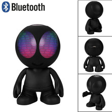 Christmas gift LED Lantern Alien Doll ET Wireless Bluetooth Speaker Computer USB TF Memory Card FM Outdoor Spaceman Speaker(China)