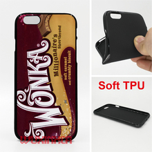 Wonka chocolate candy Phone Case Soft TPU For iPhone 6s 7 Plus SE 5S 4S Touch 6 For Samsung S8 Plus S7 S6 Edge S5 S4 2016 J5 J3(China)