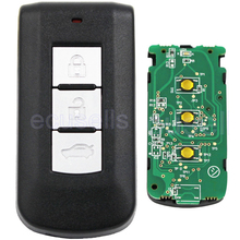 New Replacement Smart Remote Key FSK433MHz 3 Button Smart Key with 7952 Chip For Mitsubishi (Without Emergency Insert Key)