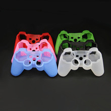 10pcs Black Silicone Case Protective Skin Case Cover For ps3 ps2 Controller(China)