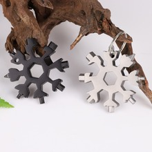 Free shipping 18-in-1 multi-tool card 조합 Compact 및 portable outdoor products 눈송이 tool card(China)
