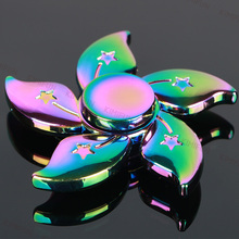 Meteor Colorful Flower Tri-spinner Sale Kid Gift Hand Spinner for Autism And ADHD Reduce Stress Fidget Spinner  kimifun