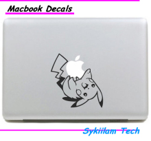 Cartoon Pokemon Walk Pikachu Sticker for Apple Macbook Skin Air 11 13 Pro 13 15 17 Retina Laptop Wall Car Vinyl Logo Decal