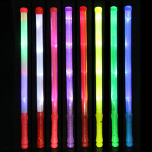 1 PCS Light Up 7 Colors LED Foam Stick Wands Rally Rave Cheer Batons Party Flashing Glow Stick Light Sticks