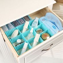 1 Set DIY Grid Drawer Divider Household Necessities Storage Home Organizer Plastic Useful Multi-grid Tidy Tools 2017(China)