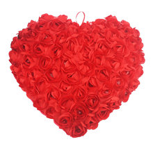red rose heart Hold Pillow chair pillows plush decoration Chair Cushion Toy Hold Couch Pillows stuffed plush toys(China)