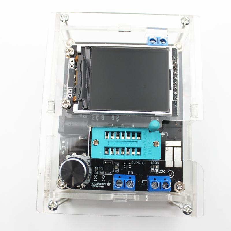 GM328 Multi-use Transistor Tester DIY Kit Diode Capacitance Voltage Meter PWM Square Wave Signal Generator +DIY Acrylic Case 3