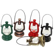 Fashion Hot Sale 1:6 Scale Alloy Retro Light Oil Lamp Dollhouse Miniature  Toy Doll