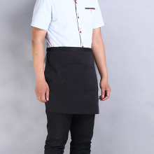 Universal Unisex Kitchen Cooking Hotel Chef Aprons Chef Uniforms Waist Apron Short Apron Waiter Apron with Double Pockets
