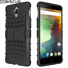 For OnePlus 3 3T One Plus A3000 A3003 Case Heavy Duty Armor Rubber Hybrid Hard Plastic Cover For OnePlus3 OnePlus3T Phone Stand(China)