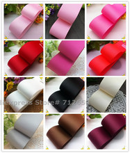 1-1/2'' (38mm) Solid Color Grosgrain Ribbon Garment bag shoe hairbow accessory Bakery gift package 10 yards free shipping(China)