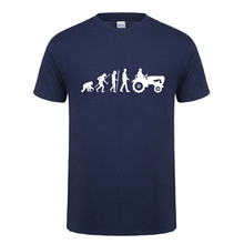 New Summer Fashion Evolution Tractor T Shirt Men Short Sleeve Cotton Born To Farm T-shirt Tops Camisetas Farmer Tshirt OT-801(China)