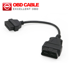 High quality 16 Pin Male To 16 Pin Female OBD 2 OBD II Extension car cable OBD2 OBDII Adapter Connector