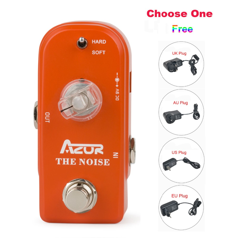AP-307 Noise Guitar Effect Pedal with Ture Bypass+9V1A Adapter and 8 Heads Multi-interface Effects Connecting Cable<br>