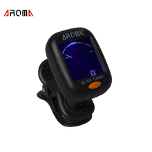 AROMA Acoustic Electric Guitar Tuner Clip On Guitar Tuner Portable Chromatic Guitar Bass Ukulele Violin Universal Digital Tuners