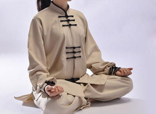 Newest 7color top quality Unisex Tai chi clothing cotton&flax uniforms taiji martial arts wushu kung fu exercise suits