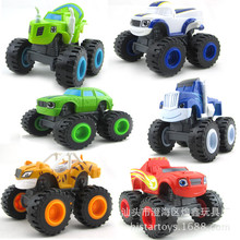 The toy car traffic monster glide monster truck 6 flame and machinery