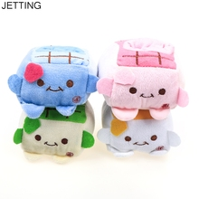 JETTING Kawaii Plush Stuffed Toy Japan TOFU DOLL Cell Mobile Phone Stand Holder Pouch Case CAR Phone Stand Holder Doll Rack(China)