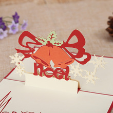 Manufacturers direct three-dimensional creative Christmas Cards New Year greeting card gift cards can be customized wholesale