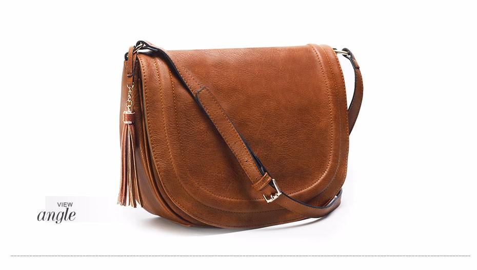 AMELIE GALANTI casual crossbody bag soft cover solid saddle fashion women messenger bags high quality shoulder bag for women (10)