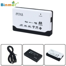 USB 2.0 Card Reader for SD XD MMC MS CF SDHC TF Micro SD M2 Card Reader Adapter Binmer MotherLander Jan 13