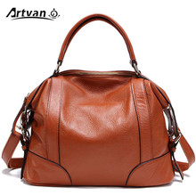 100% Top Genuine Leather Women's Messenger Bags First Layer Of Cowhide Crossbody Bags Female Designer Shoulder Tote Bag PS01