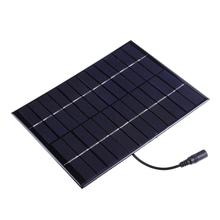 Alloyseed 5.2W 12V Solar Power Panel DC Output Battery Charger Panel Board DIY Solar Charger Set for Low Power Lighting System(China)