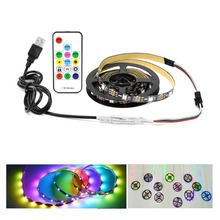 WS2812B IC Built-in 5050 Pixel Led Strip USB Powered 30Leds/m Magic Digital RGB String Lamp Tape For Power Bank Charger Computer