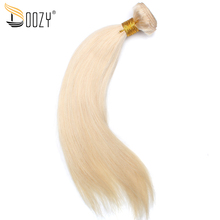 Doozy 613 Russian Blonde Straight Hair Bundles 1 Piece Double Weft Hair Extensions European remy Human Hair Weave(China)