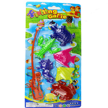 Plastic Toy Children Magnetic Fishing Rod Model Bath Fun Toy Set Cartoon Baby Puzzle Magnetic Fishing Game Kids Toy