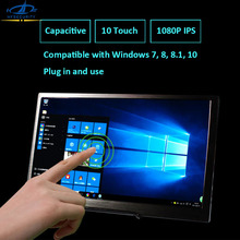 [HFSECURITY] 15.6inch USB Touch Screen 1080P LED Aerial Computer Monitor IPS Capacitive Portable PS4 Xbox Computer Game Display