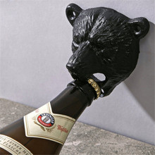 Beer Soda Top Opener Wall Mounted Glass Bottle Cap Opener Durable Kitchen Bar Openers Tools Vintage Cast Iron Bear Design 678799