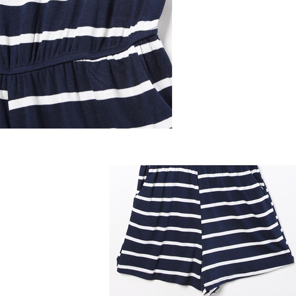 Siskakia mody młodzieżowej Letnie nastolatek dziewczyny Playsuit Przebrania paski patchwork slim fit krótkie elegancki 100% bawełna odzież różowy 15