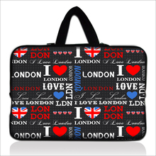 "Laptop Satchel Carring Handbag I Love London Type10""13""14""15""17"" Wholesale 5pcs/lot Neoprene Computer Handle Pouch Grip For Sony"