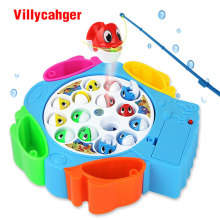 kids fishing toys set children educational toys musical gifts electric rotating fishing game no magnetic outdoor sports toys(China)