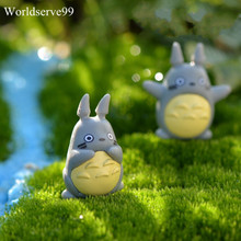 2.5cm Cartoon PVC Resin Totoro Carft Bonsai DIY Garden Decor Ornament Miniature Figurine Plant Pot Fairy Micro Landscape