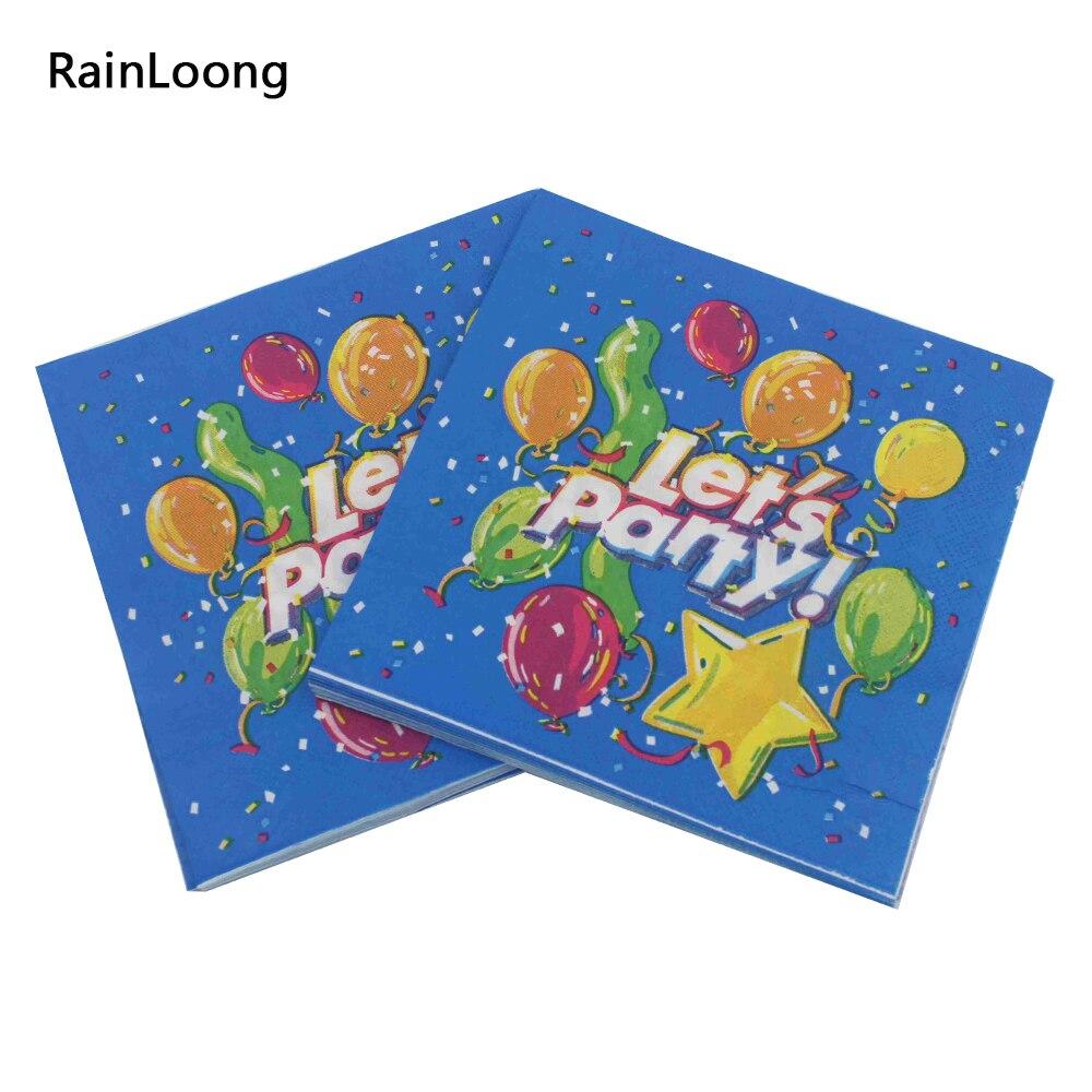 [Rainloong] Давайте партия Салфетка события ткани синего салфетки Декупажные украшения бумаги 33 см 33 см 20 шт./упак./лот(China (Mainland))