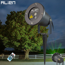 ALIEN Remote Christmas Outdoor RG Laser Light Show Projector Waterproof Lights For Holiday Xmas Tree Decorations Garden Lighting