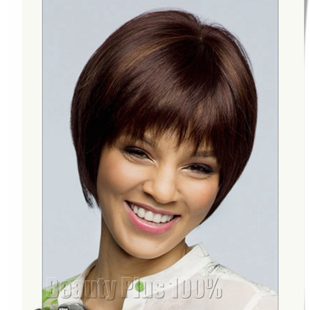 Top quality no lace wig bob wig with bangs short straight wig for black women synthetic no lace wig wholesale free shipping<br><br>Aliexpress
