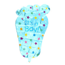 1Pcs Baby FOOT Print Feet Footprint Shower Party Mylar Balloon BB Birthday Paty Decor Pink Blue
