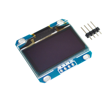 "10pcs/lot 1.3"" OLED module white and blue color 128X64 1.3 inch OLED LCD LED Display Module For 1.3"" IIC Communicate(China)"