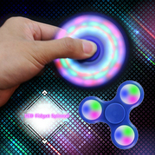 Shake Light Fidget Hand Spinner Colorful Lighting For Autism and ADHD Finger Spinner Anti Stress Gift Toy LED Finger Spiners