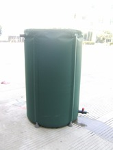 160 Liters (D50*H90cm) foldable bucket outdoor buckets folding RAIN BARREL PVC compressible water butt(China)