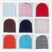 Hot Sale Baby Beanies Knitted Cotton kids cap for boys girls solid color soft hat Spring Autumn Winter thick baby hat
