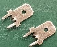 100pcs Free shipping 6.3mm middle opening Terminal Lug terminal PC board soldering copper solder board terminal plug(China)