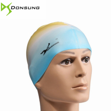 HOT! Silicone rubber swimming cap Adult men women waterproof swim caps hat swimming accessories candy colors swimming wear hat