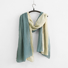 Johnature 2017 Autumn Spring New Women Cotton Scarf Double Layer Maxed Color Warm Scarf Confortble Casual Female Scarf