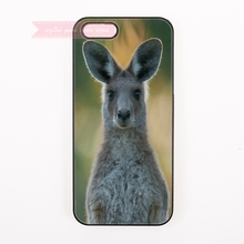 Cute Kangaroo Australia Hard Back Cover Phone Case For iphone 4 5 5s 5c se 6 6S plus 7 7 Plus case lovely