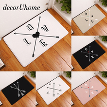 decorUhome Entrance Waterproof Door Mat Geometry Love Arrow Kitchen Rugs Bedroom Carpets Decorative Stair Mats Home Decor Crafts
