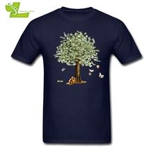 Money Tree Dollars Adult T Shirt Printed Summer T-Shirt Men Short Sleeve O Neck Tshirt Teenboys Newest Simple Tee Shirt(China)